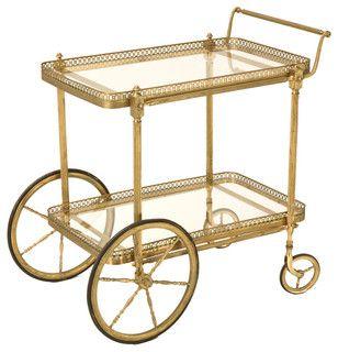 Vintage Bar Cart - brass, love it