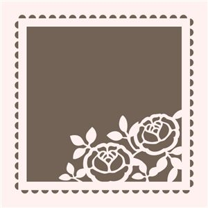 could be used for a card, stencil, cutwork embroidery, laser cut frame for mirror, etc...something southernelle!