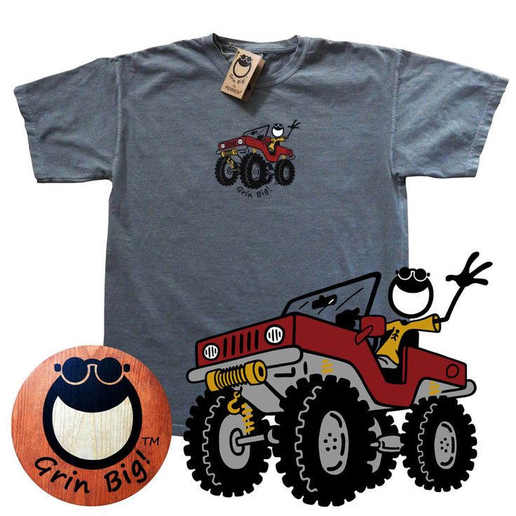 Men's Jeep T-Shirt from the Grin Big!™ Official Website