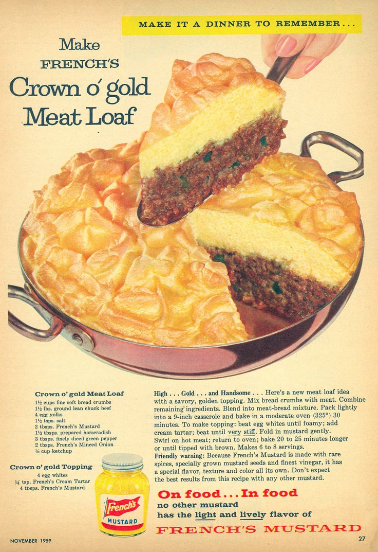 French's Mustard - Crown O'Gold Meat Loaf Recipe