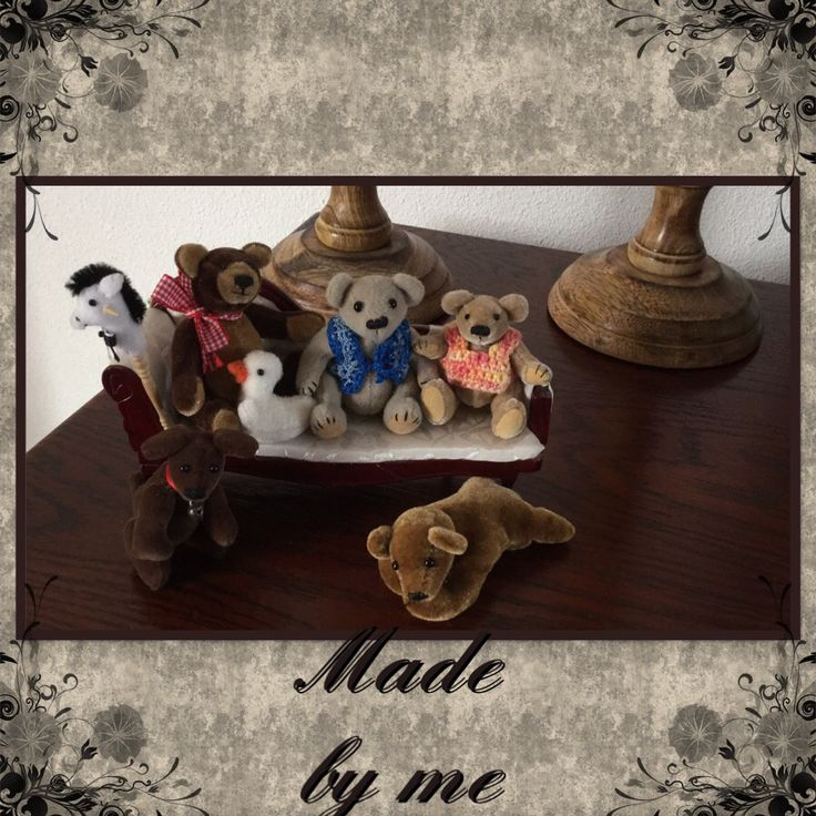 """The Tiny family i have made. The stockhorse is my idea. The others patron by """"Toos' Keuning"""""""