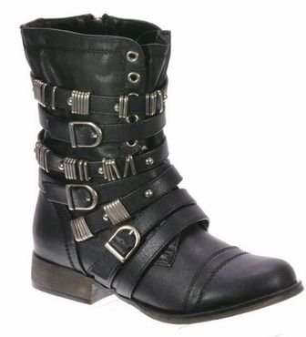 Breckelle Georgia-48 Buckle Strap Round Toe Bootie - Click to enlarge