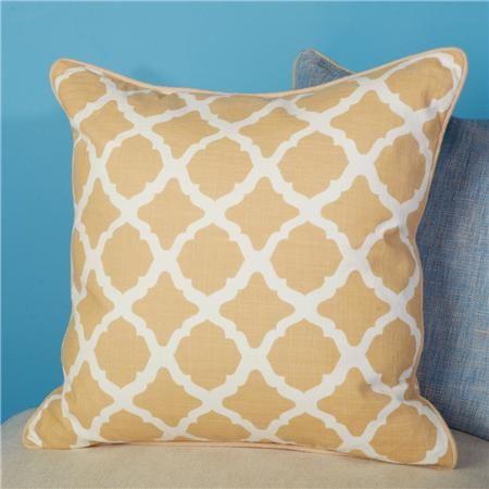 Golden Camel Arabesque Lattice Pillow