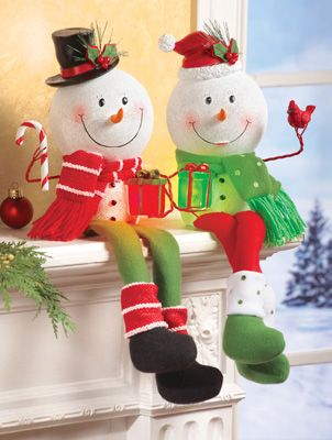 Lighted Snowman Shelf Sitter