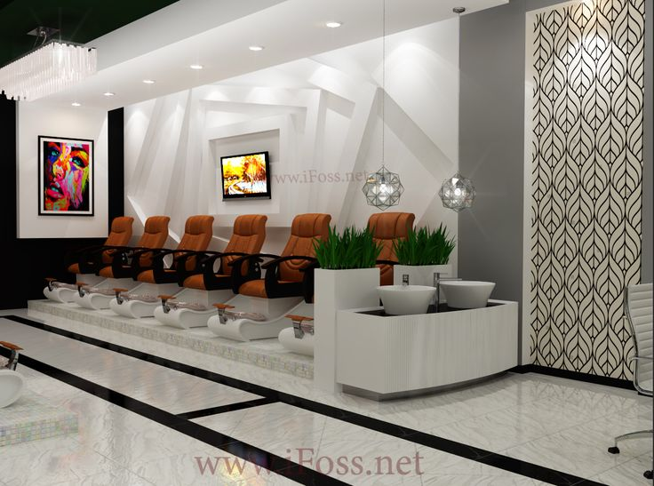 Nail Salon Design After 5 7days, Customer Will Get Our Layout (see From