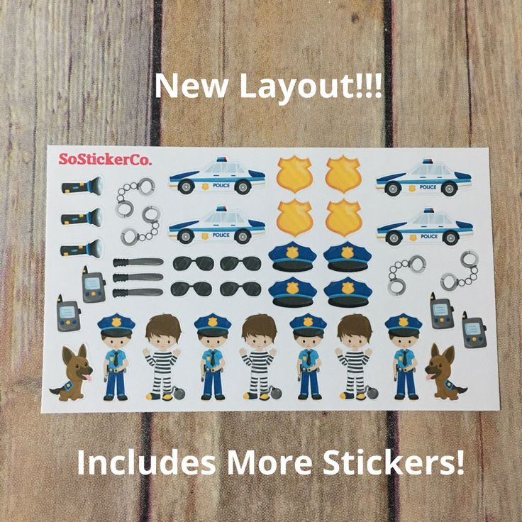Police Stickers, K9 Stickers, Police Dept, Cop Stickers, Law Enforcement, Cute Planner Stickers, Stickers for Planner #DC30 by SoStickerCo on Etsy https://www.etsy.com/listing/482551611/police-stickers-k9-stickers-police-dept