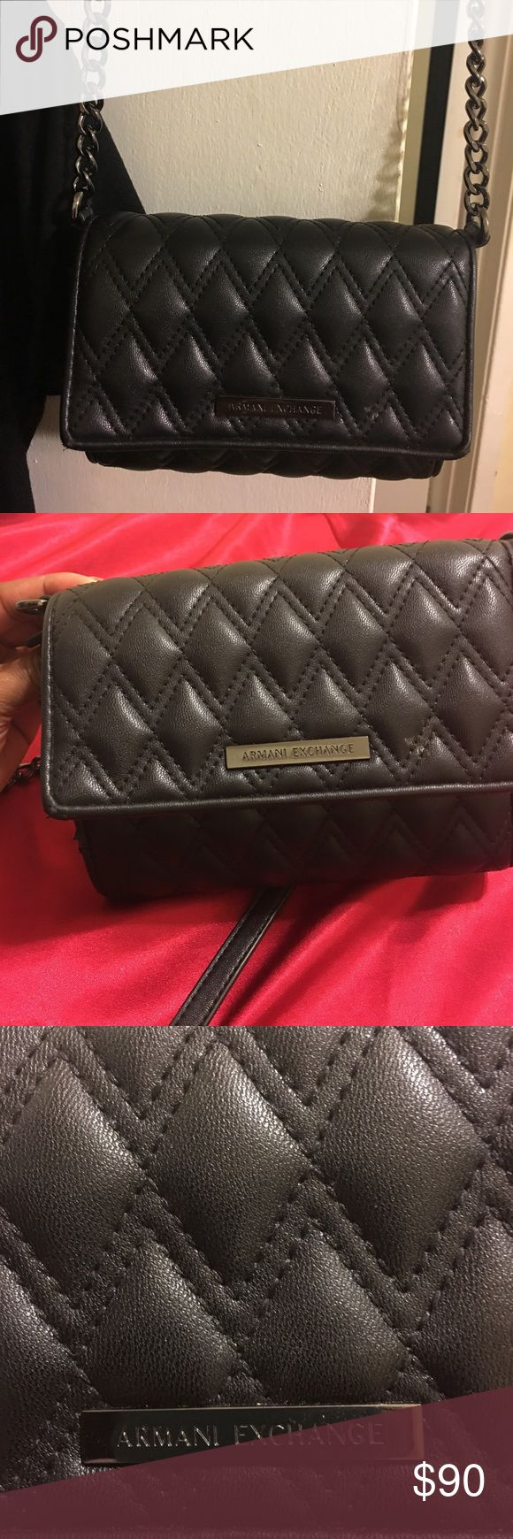 Authentic Armani Exchange Soft Leather Purse Small Like New Black Armani Exchange Purse.  Soft, Genuine Learher.  Beautiful and Like New! A/X Armani Exchange Bags Mini Bags