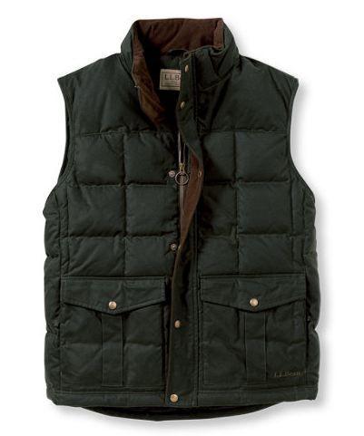 L.L. Bean Waxed Cotton Down Vest