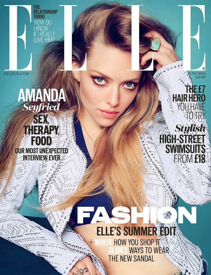 BRITISH ELLE - JUNE 2014 COVER MODEL - AMANDA SEYFRIED
