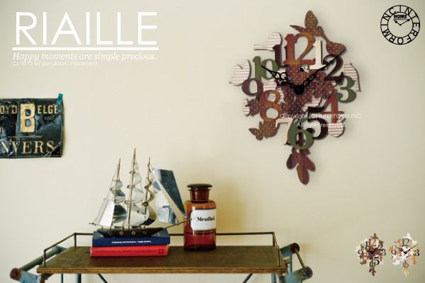 【 インターフォルム 】RIAILLE [リアイエ]■振り子時計 | 壁掛け時計 :INTERFORM