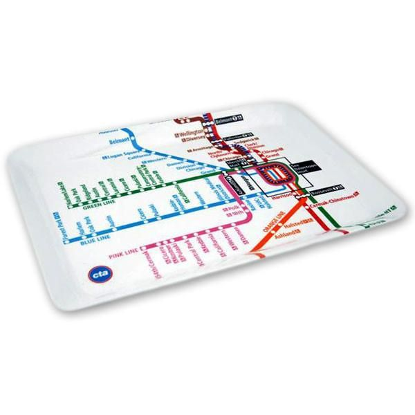 22 best chicagos l train images on pinterest train trains this durable lightweight and dishwasher safe melamine serving tray features a sciox Image collections