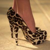 cheeta print pumps