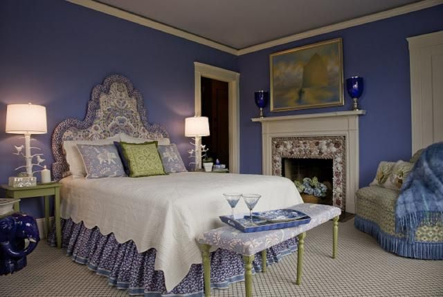 The Cool Side of the Spectrum: Decorating with Blue, Green and Purple: Traditional with a Twist