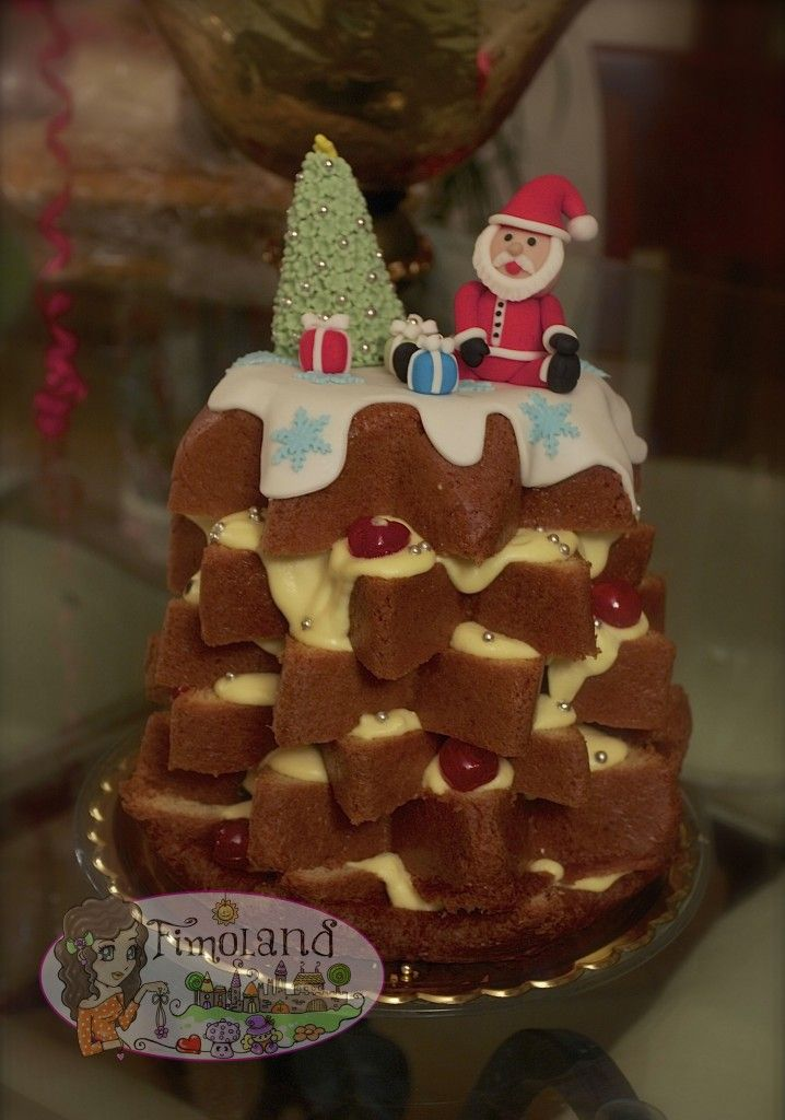 Pandoro Babbo Natale... cake design