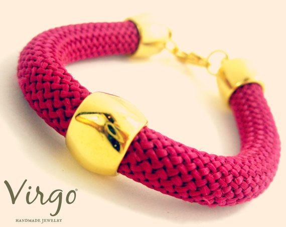 Handmade Mountaineering Cord Golden Brass Bracelet.  Size: approx. 17cm   We can resize for you, all of our jewelries, so feel free to ask!  Τhe bracelet comes in a gift box!  Do you like this item? See more at: https://www.etsy.com/shop/VirgoHandmadeJewelry  Like us on Facebook:  https://www.facebook.com/VirgoHandmadeJewelry  or   follow us on Pinterest: www.pinterest.com/VirgoJewelry   Thanks for stopping by - Virginia