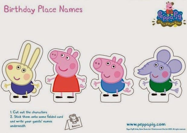 free-printables-for-peppa-pig-placemates.jpg (619×442)