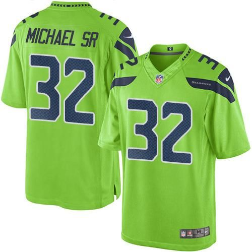 ... Elite NFL Jersey Nike Seahawks 32 Christine Michael SR Green Mens  Stitched NFL Limited Rush Jersey ... f33de8081