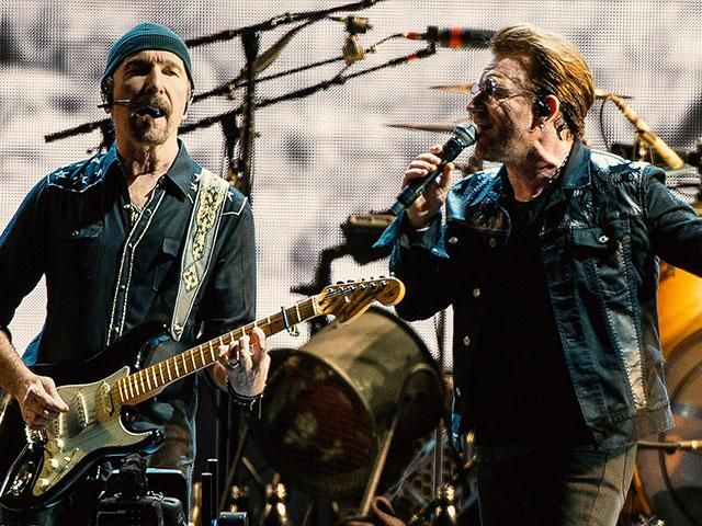 With Brits still reeling from the Manchester massacre, Irish rock band U2 just decided to fight back with faith, turning Jimmy Kimmel's studio audience into a live gospel choir. The resultis simply beautiful.