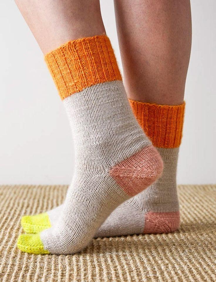Easy Heel Colorblock Sockenmuster, pdf
