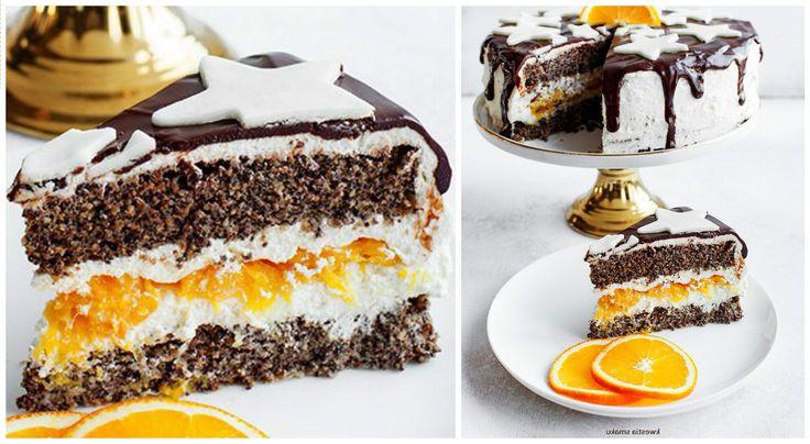 Маковий торт з апельсинами : Ням ням за 5 хвилин