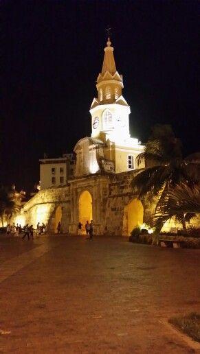 Linda vista en calles de Cartagena