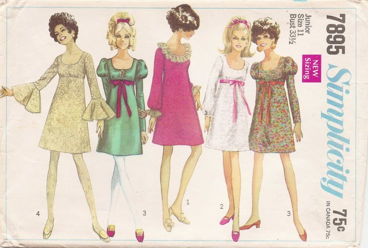 Examples Of Popular 1960s Sleeve Styles And Silhouettes