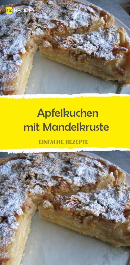 Apfelkuchen mit Mandelkruste 😍 😍 😍 – Backen