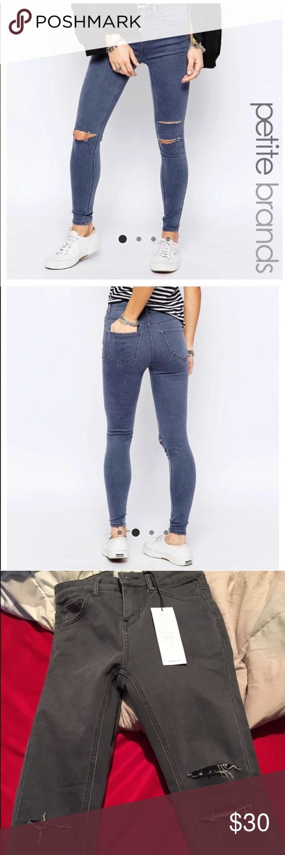 Asos jeans These are petite size 6 super cute I bought this size not knowing they were stretch so they're a little big on me. Open to offers! ASOS Pants Skinny