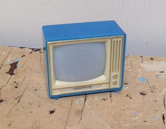 Vintage plastikop Toy tv viewer souvenir from by karmolijntje