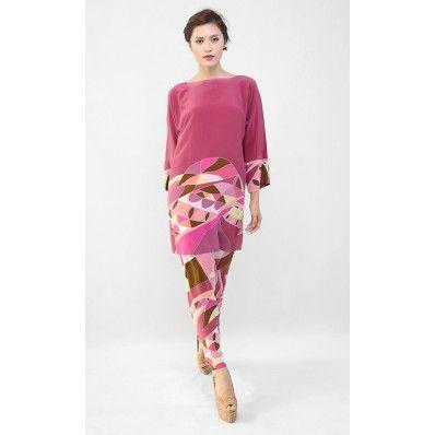 Kurung Set Loose Design in Dusty Pink
