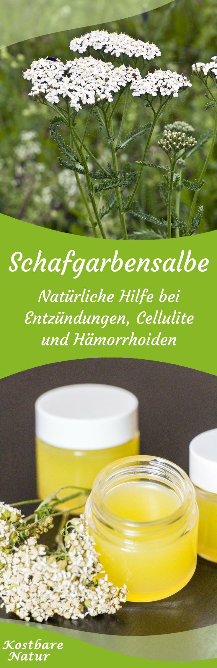Nutze die vielen heilenden Inhaltsstoffe der Schafgarbe gegen Hautkrankheiten, Hämorrhoiden, Cellulite und vieles mehr.