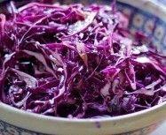 Red Cabbage Slaw with Mustard Vinaigrette (Atkins Diet Phase 1 Recipe) | Diet Plan 101