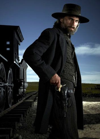 """Hell on Wheels: actor Anson Mount plays Cullen Bohannon, a former Confederate Army soldier hell bent on avenging his wife's rape and murder. Set in 1865, Cullen starts out as a broken man to find those responsible. The series centers on the settlement that accompanied the construction of the first transcontinental railroad, referred to as """"Hell on Wheels"""" by the company men, surveyors, support workers, laborers, prostitutes, mercenaries and others who make the mobile encampment their home.Cullen Bohannon, Favorite Men, Favorite Tv, Hells, Bohannon Anson, Wheels Seasons, Movie, Cowboy Hats, Anson Mount"""