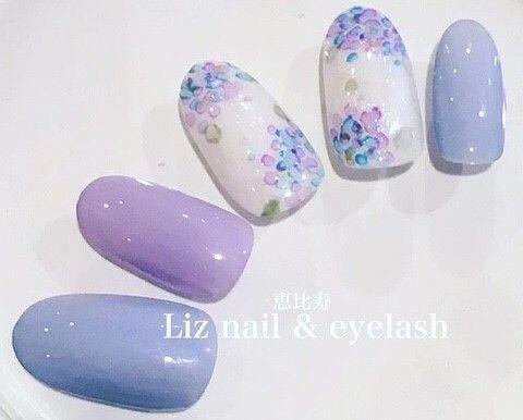 • Nail Design Color Star Nail * Purple Lavender Nail!   – uñas