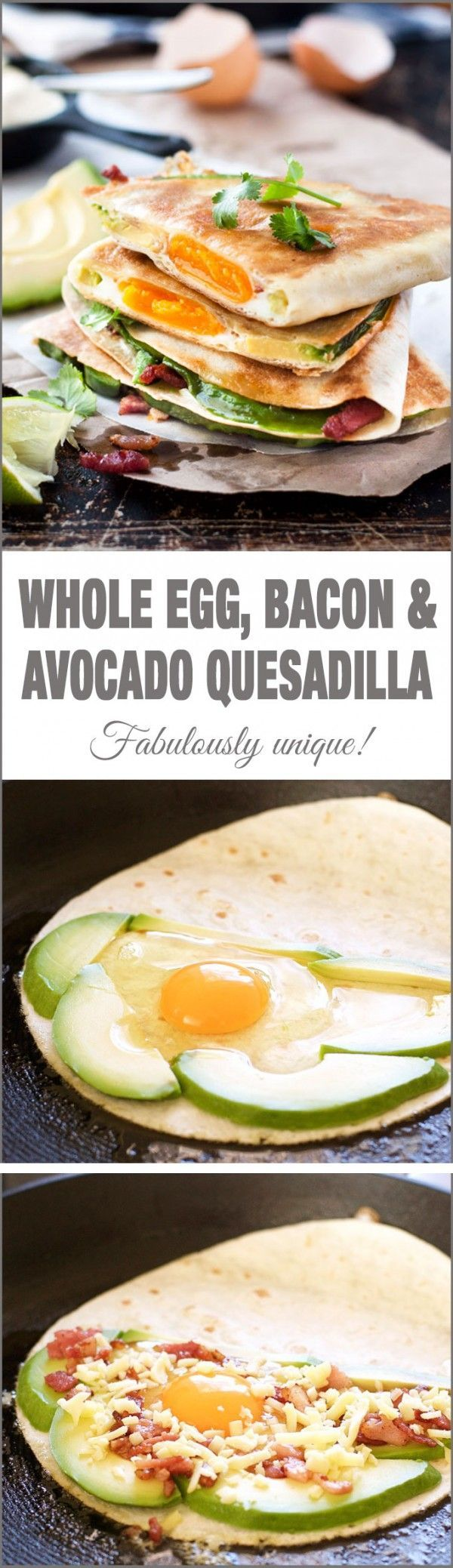 Get the recipe ♥ Whole Egg Bacon and Avocado Quesadilla @recipes_to_go