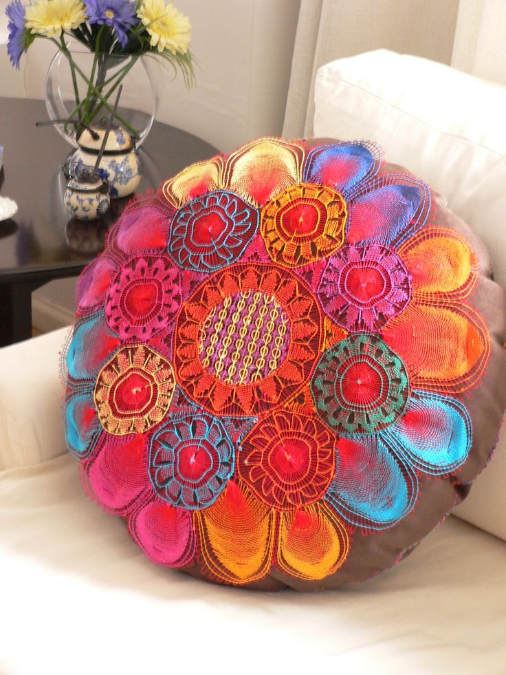 """Ñanduti .Paraguay, lace, lace, they call it """"Spider Lace"""". I have some beautiful pieces. Amazing work"""