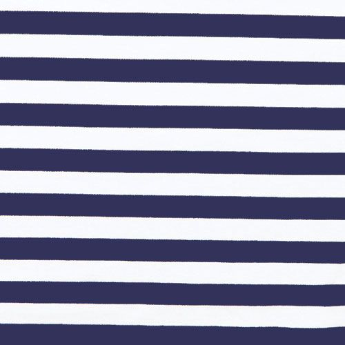 Navy Blue White And Gray Bedroom: Deep Navy And White Stripe Ponte De Roma Fabric