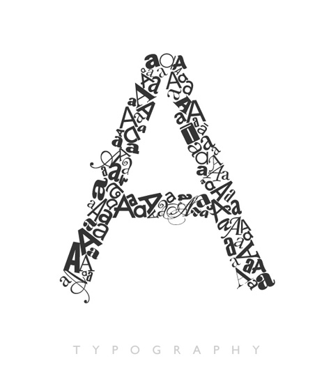 The Letter A Typography - I want my whole name like this on my wall :)