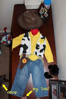 All Things Davidson: Chase's Halloween Costume: Woody {projects} {family} Complete tute for woody costume. She makes it look do-able. Hope my chase likes it.