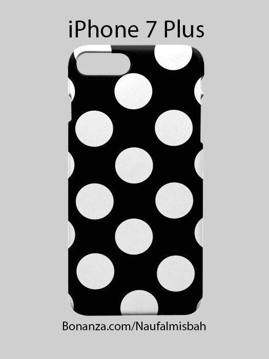 Black White Polka Dots iPhone 7 PLUS Case Cover Wrap Around