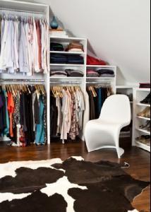 kleding opbergen op zolder