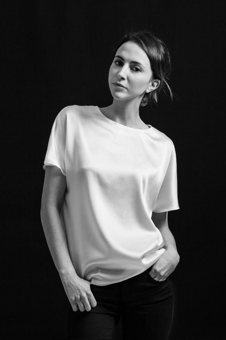 White Silk T-shirt