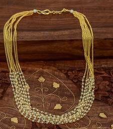 Buy Gold gold plated necklace sets necklace-set online