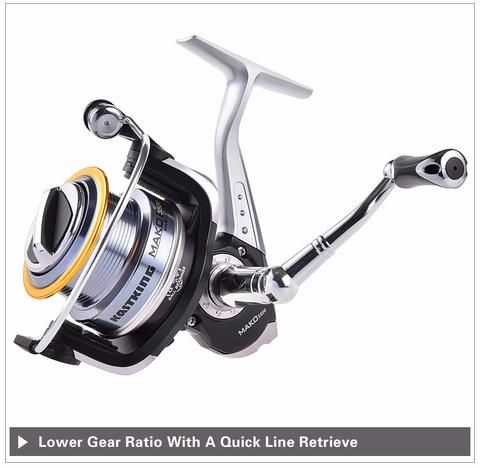 New 2016 MAKO 3500 Super Large Spool Spinning Fishing Reel  You will love the revolutionary design rotor brushes that prevent your line from dropping down on to your spool skirt during retrieve. Mako spinning reels reduce loops and snarls to give you a pleasant fishing experience. Click Visit For Today's Deals. Whilst Stocks Last! #BigStarTrading
