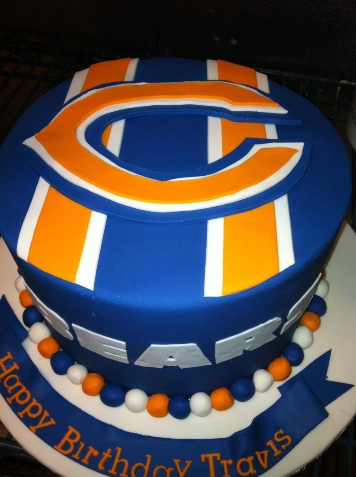 Chicago BEARS Groom's Cake by Delicity Cakes