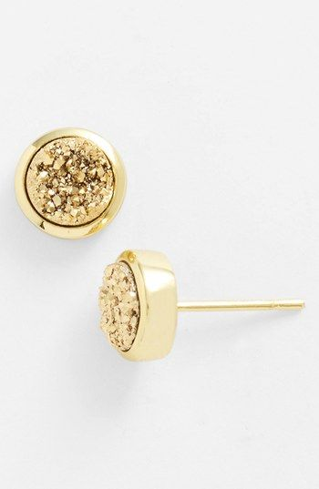 Marcia Moran Drusy Extravaganza Stud Earrings available at #Nordstrom Gold/Rose