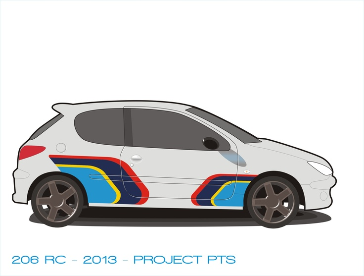 Peugeot 206 RC with PTS colors.