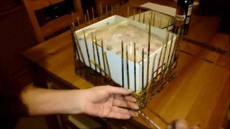 Tutorial Cestino Rettangolare con fondo in cartone ricoperto di tessuto.