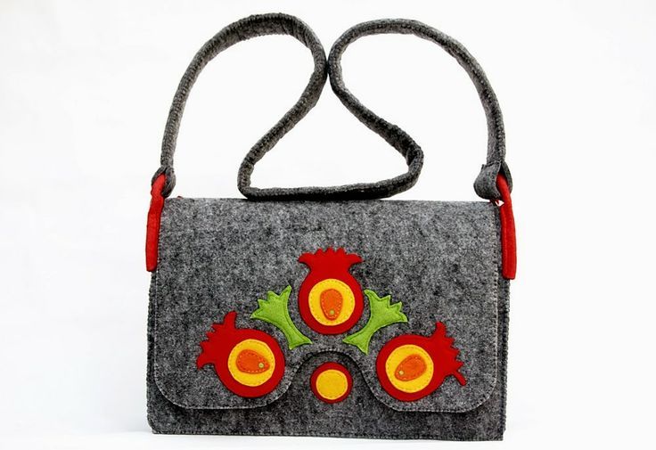 In a folk way... - handmade felt bag