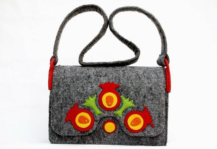 In a folk way... - handmade felt bag